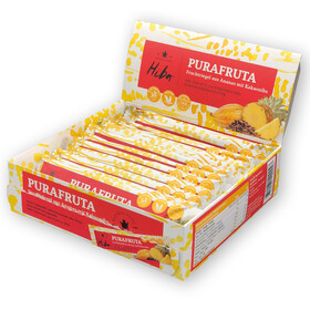 Hiba Purafruta Energy Bar Box 12x30g, Pineapple/Cocoa Nibs
